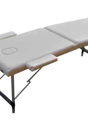 Складной массажный стол ZENET. Кремовый, размер L ( 195*70*61)