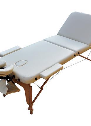 Массажный стол складной ZENET. Кремовый, размер М ( 185*70*61)