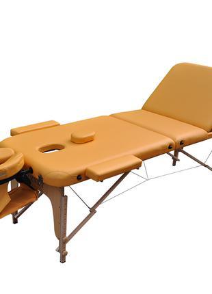 Массажный стол деревянный ZENET. Песочный, размер L ( 195*70*61)