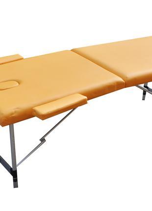 Массажный стол с регулировкой высоты. Желтый, размер М ( 185*7...