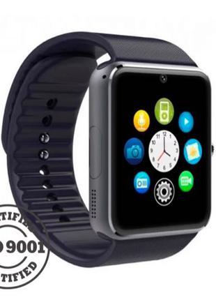 Смарт часы GT08 (чёрный/красный)