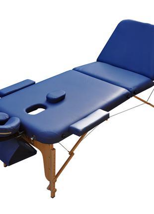 Массажный стол разборной ZENET. Темно синий, размер L ( 195*70...