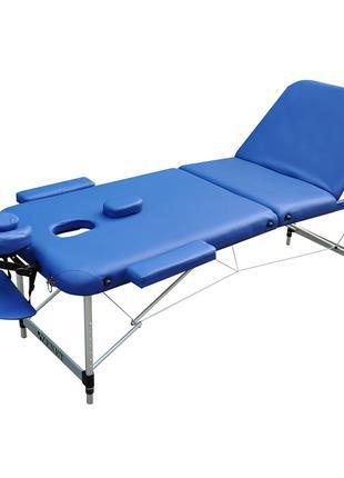 Складной массажный стол ZENET NAVY BLUE размер L ( 195*70*61)