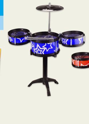 Детская ударная установка, 2 цвета,три барабана,тарелка,ударны...