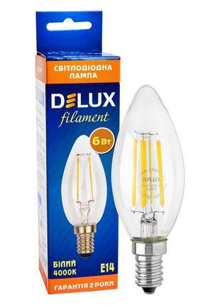 Светодиодная лампа эдисона DELUX BL37B 6 Вт 4000K 220В E14 fil...