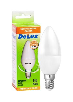 Лампа світлодіодна DELUX BL37B 7Вт 6500K 220В E14 (90012460)