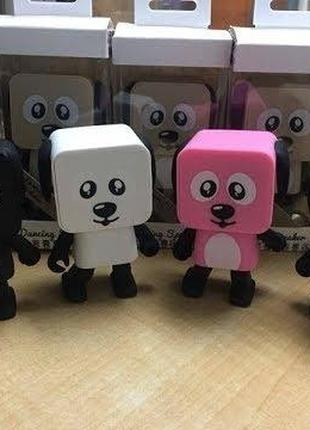 Портативная Bluetooth колонка танцующая собака робот. Танцующа...