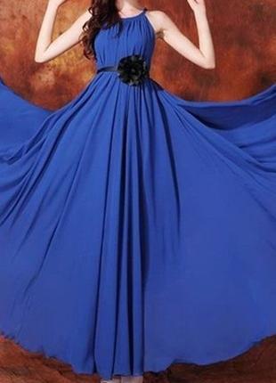 Платье из шифона размер s-l королевский синий