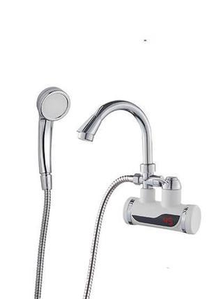 Кран водонагреватель с душем и датчиком температуры Wezer SDR-...