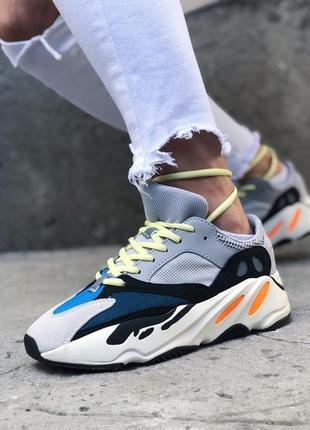 Кроссовки в стиле adidas yeezy boost 700 wave runner gray