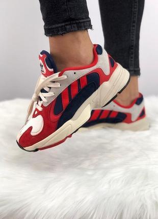 Кроссовки в стиле adidas yung 1 red