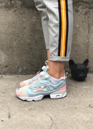 Кроссовки в стиле reebok insta pump og polar pink patina