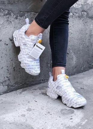 Кроссовки в стиле reebok rbk insta pump vetements emoji