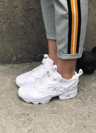 Кроссовки: reebok insta pump fury full white