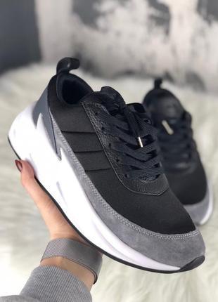 Кроссовки: adidas sharks black grey white.