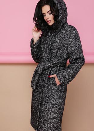 Пальто, теплое, букле, шерстяное
