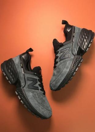 Кроссовки: new balance 574 grey black.