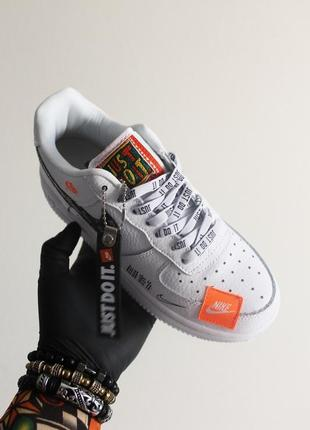 Кроссовки: nike air force just do it pack white/black.