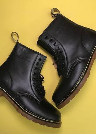 Ботинки: dr martens 1460 black (мех).