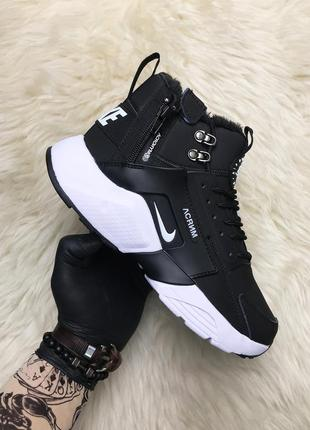 Кроссовки; nike air huarache mid winter (мех)
