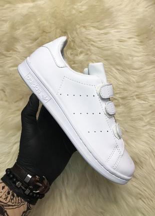 Кроссовки: adidas stan smith velcro white.