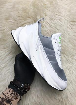 Adidas sharks white gray