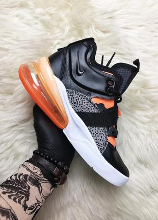 Nike air force 270 black orange