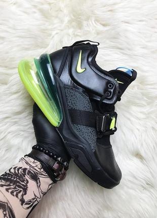 Nike air force 270 black green