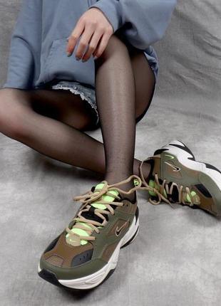 Nike m2k tekno green white.