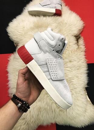 Adidas tubular invader royal red.