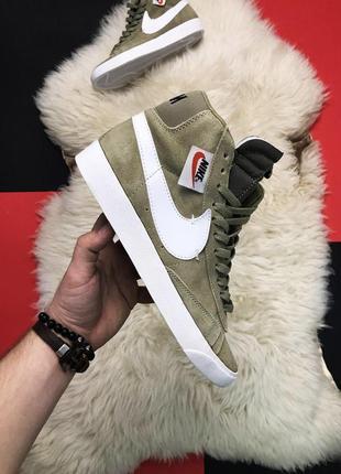 Nike blazer mid green.