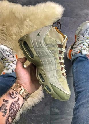 Nike air max 95 sneakerboot beige green.