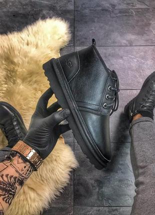 Ugg man classic short black. (зима)
