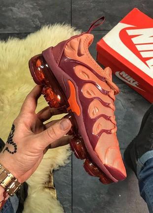Nike vapormax tn plus dark orange.