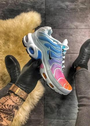 Nike air max tn rainbow white