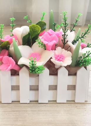 Букет из мыла. Мыльный букет. Цветы. Стильный подарок.