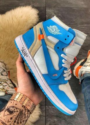 Nike a!r jordan 1 off-white blue.