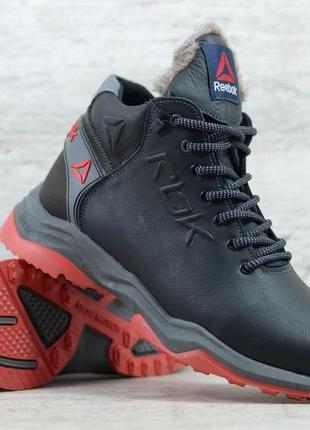 Мужские кожаные зимние ботинки/кроссовки  reebok