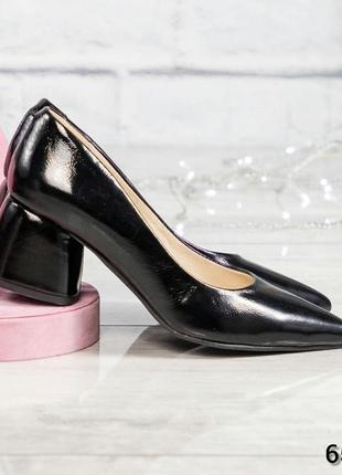 ❤ женские черные  кожаные туфли ❤