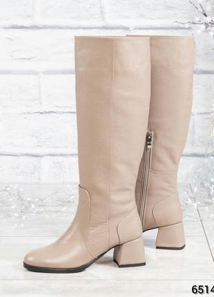 ❤ женские зимние кожаные ботинки сапоги полусапожки ботильоны ...