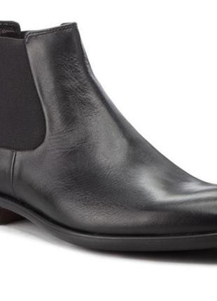 Новые  ботинки челси из гладкой кожи