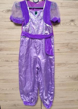 Детский костюм шаймер и шайн, для танцев живота, жасмин на 5-6...
