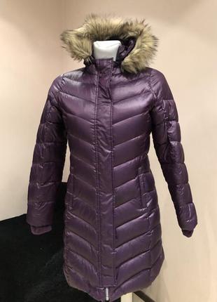 Пуховое пальто пуховик lands*end. размер m рост 140-152 см