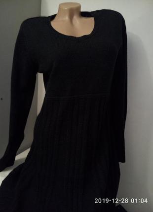 Вязанное платье до колена