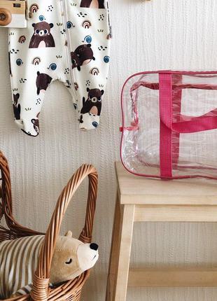 Компактная сумка в роддом ORGANIZE K005-1-pink розовый