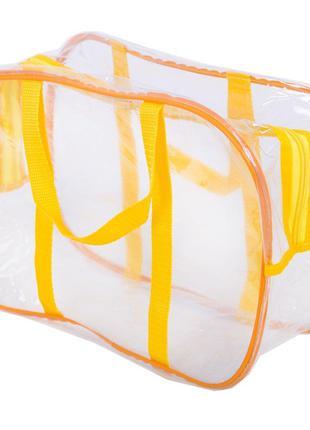 Компактная прозрачная сумка в роддом ORGANIZE K005-1-yellow же...
