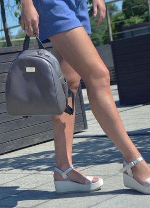 "Женский серый рюкзак ""Stefany"", 30"