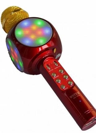 Беспроводной Bluetooth микрофон для караоке WSTER WS-1816 Красный