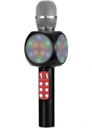 Беспроводной Bluetooth микрофон для караоке WS-1816 Черный