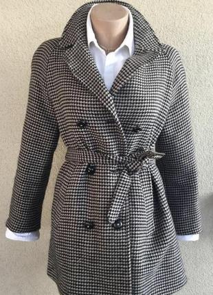 Пальто под пояс,реглан,100% шерсть,люкс бренд,оригинал,see by ...